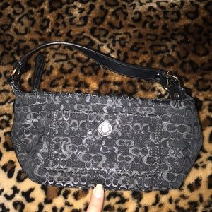 New Coach makeup bag with authenticity card